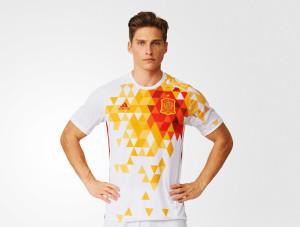 Espagne Euro 2016 maillot exterieur football Adidas