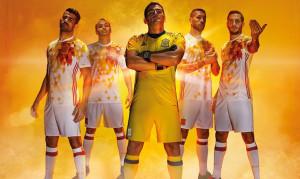 Espagne Euro 2016 maillot exterieur officiel