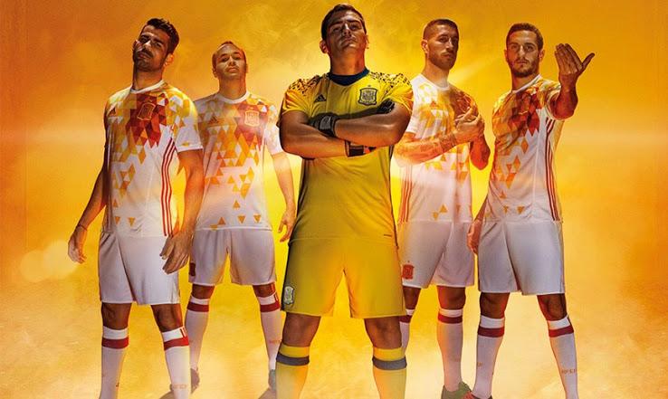 Espagne Euro 2016 maillots de football Euro 2016