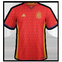 Espagne Euro 2016 maillot foot domicile