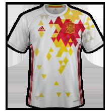 Espagne Euro 2016 maillot foot exterieur 2016