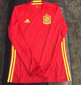 Espagne Euro 2016 photo du maillot foot domicile