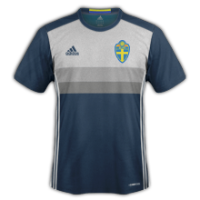 Suede Euro 2016 maillot exterieur 2016