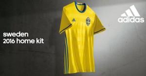 Suede Euro 2016 maillot officielle Adidas domicile 2016