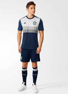 Suede Euro 2016 tenue de football exterieure away kit