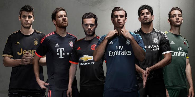 maillots third football Adidas 2015 2016