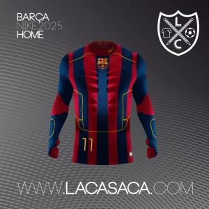 Barcelone 2025 maillot de foot futur