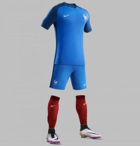 France Euro 2016 maillot domicile short chaussettes