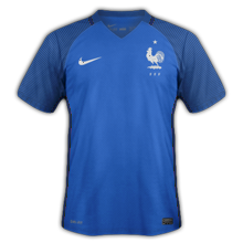 France Euro 2016 maillot foot domicile 2016