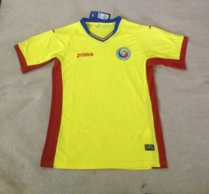 Roumanie Euro 2016 maillot domicile foot