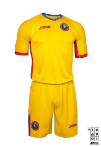 Roumanie Euro 2016 maillot foot domicile