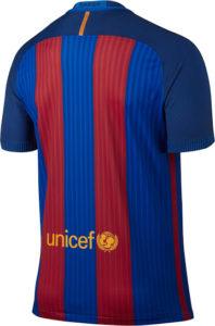 Barcelone 2017 dos du maillot domicile foot 16-17 Nike