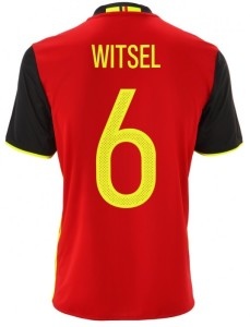 Belgique Euro 2016 flocage maillot domicile football WITSEL