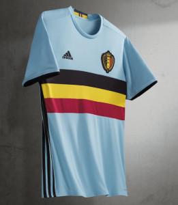 Belgique Euro 2016 maillot exterieur Adidas officiel
