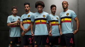 Belgique Euro 2016 maillot exterieur foot officiel