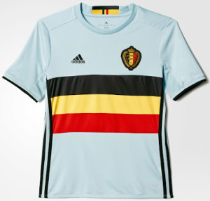 Belgique Euro 2016 maillot exterieur football