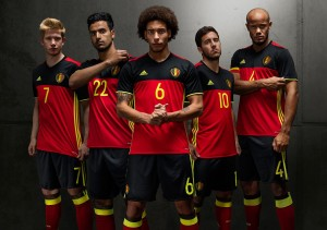 Belgique Euro 2016 maillot officiel Adidas