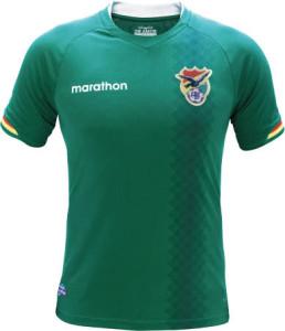 Bolivie Copa America Centenario 2016 maillot domicile Marathon