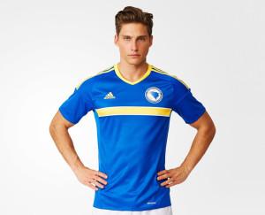 Bosnie Euro 2016 maillot de foot domicile Bosnie Herzegovine