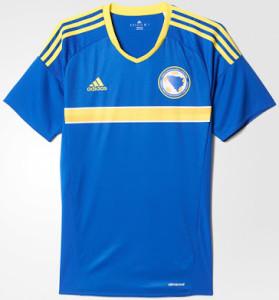 Bosnie Euro 2016 maillot domicile Bosnie Herzegovine football