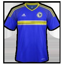 Bosnie Euro 2016 maillot domicile Bosnie Herzegovine
