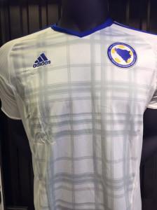 Bosnie Euro 2016 maillot exterieur foot Bosnie Herzegovine blanc