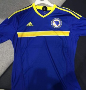 Bosnie Euro 2016 maillot foot domicile Bosnie Herzegovine