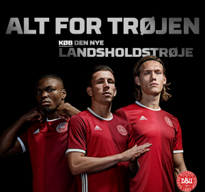 Danemark Euro 2016 maillot Adidas officiel domicile
