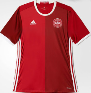 Danemark Euro 2016 maillot domicile foot