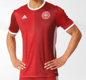 Danemark Euro 2016 maillot domicile football