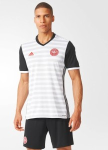 Danemark Euro 2016 maillot exterieur Adidas