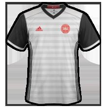 Danemark Euro 2016 maillot exterieur foot