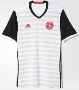 Danemark Euro 2016 maillot exterieur officiel