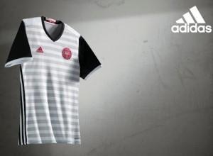 Danemark Euro 2016 maillot exterieur officiel Adidas