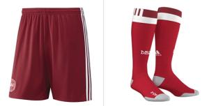 Danemark Euro 2016 short et chaussettes domicile