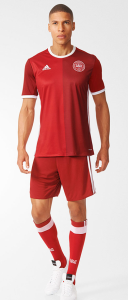 Danemark Euro 2016 tenue de football Adidas