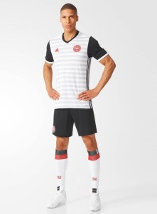 Danemark Euro 2016 tenue de football exterieur