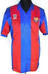 FC Barcelone 1991 1992 maillot domicile football