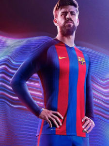 FC Barcelone 2017 maillot domicile Pique