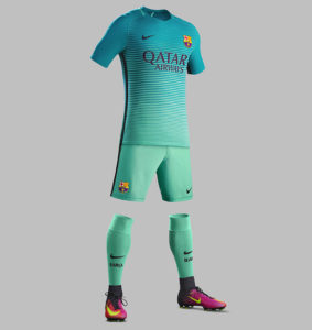 FC Barcelone 2017 troisieme maillot foot third 16-17 LDC