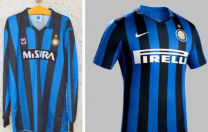 Inter Milan 25 ans maillots