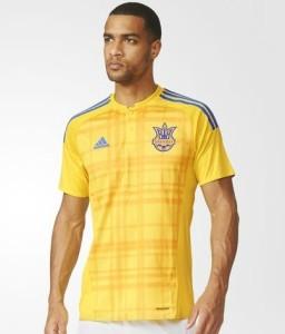 Ukraine Euro 2016 maillot de foot domicile