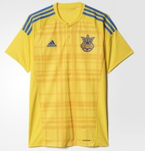 Ukraine Euro 2016 maillot football domicile