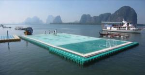 terrain foot sur eau océan Thailande