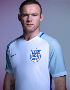 Angleterre Euro 2016 maillot domicile Rooney