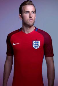 Angleterre Euro 2016 maillot exterieur Kane