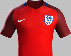 Angleterre Euro 2016 maillot exterieur Nike officiel