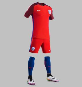 Angleterre Euro 2016 tenue de foot extérieure officielle