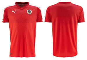 Autriche Euro 2016 maillot domicile foot Puma et dos