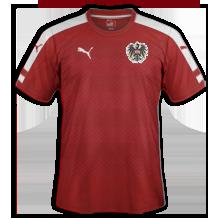 Autriche Euro 2016 maillot domicile football